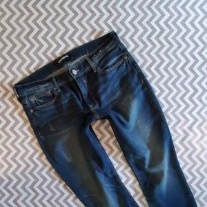 Express distressed ankle Jean Leggings!